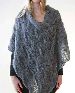 e08ee5a6b Ravelry  Mohair Cable Poncho pattern by Jo Sharp