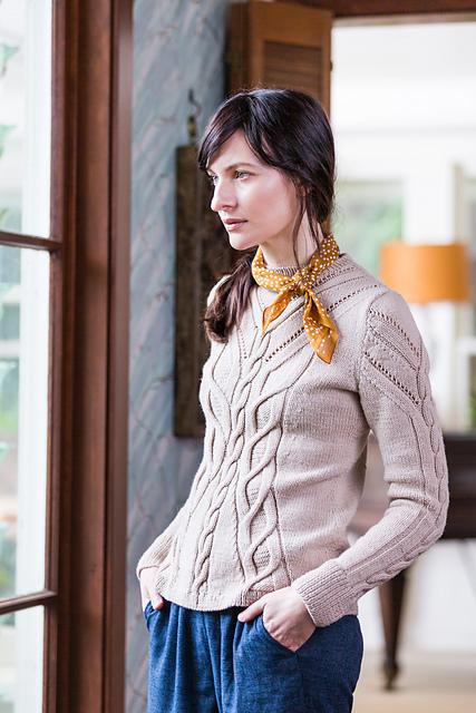Chandail tricoté Fieldstone par Norah Gaughan