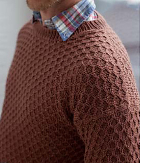 13690f58f Ravelry  Honeycomb Sweater pattern by Bruce Weinstein