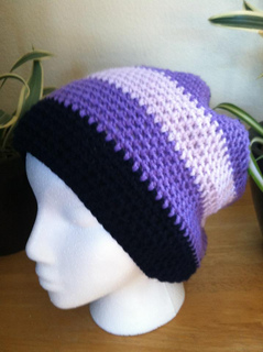 fc646abb091 Ravelry  Rasta Solid or Stripes Slouchy Beanie pattern by Manon ...
