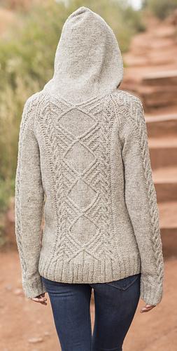 Free Knitting Pattern Hood Jacket : Ravelry: Snowbowl Hoodie pattern by Anne Podlesak