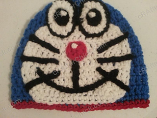 Amigurumi Doraemon Pattern : Ravelry doraemon the anime cat hat pattern by niki wyre