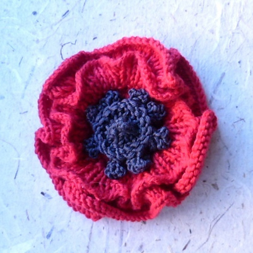 Ravelry Remembrance Poppy To Knit Pattern By Katy Sparrow
