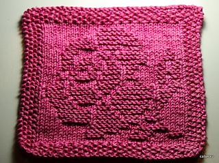Ravelry Dishcloth Small Rose Sp 252 Li Kleine Rose Pattern
