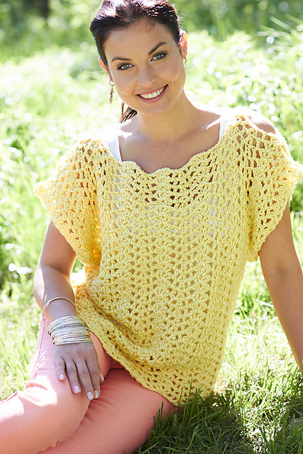 Ravelry Scalloped Top Pattern By Lorna Miser