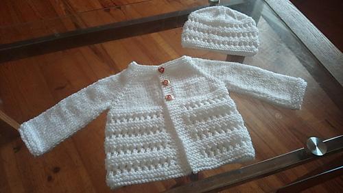 b219ff9a9e23 Ravelry  Jasmine Baby Jacket pattern by marianna mel