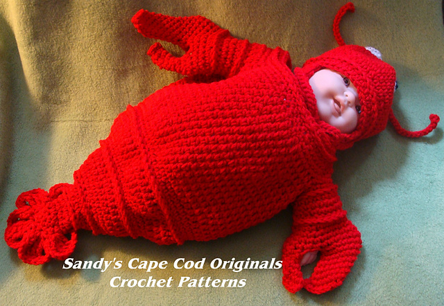 Ravelry 189 Cappy The Lobstah Bunting Pattern By Sandy Powers