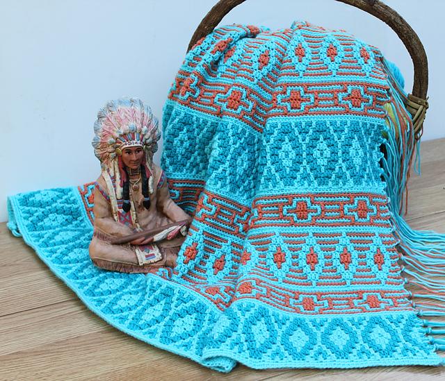 Ravelry Native American Afghan Pattern By Carol Hegar