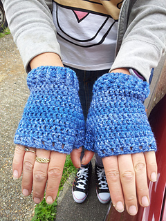 Ravelry Basic Fingerless Mitts With Thumb Gusset Pattern By Anna Murphy