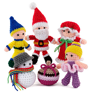 Amigurumi Websites : Ravelry: Happy Holidays Amigurumi pattern by Carolyn Christmas