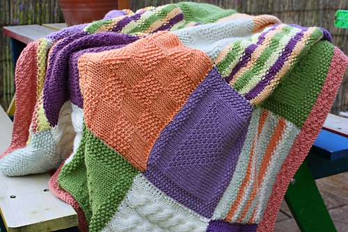 ravelry blankets and throws to knit patterns