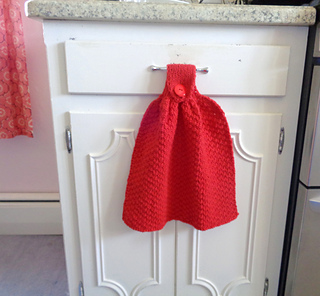 Hanging Dish Towel pattern by Little Luxury Knits