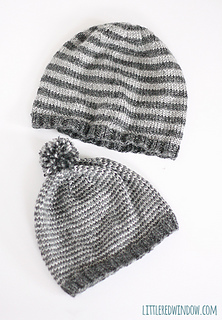 Ravelry  Father   Son Striped Winter Hats pattern by Cassandra May b5c8115da71