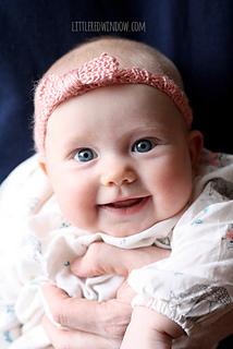 Ravelry  Knit Bow Baby Headband pattern by Cassandra May 19ff382c44e9