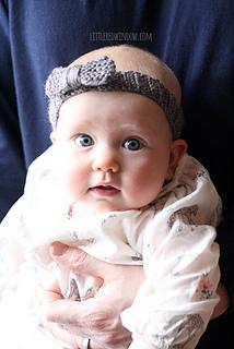 Ravelry  Knit Bow Baby Headband pattern by Cassandra May 6e5de1abe5b