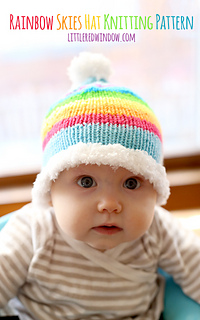 ac6ee749d4d Ravelry  Rainbow Skies Baby Hat pattern by Cassandra May