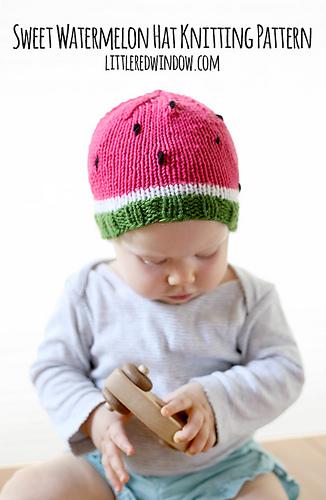 Watermelon_hat_kids_baby_knitting_pattern_01b_littleredwindow_medium