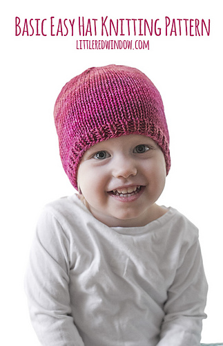 6f06700a8 Ravelry  Easy Baby Hat pattern by Cassandra May