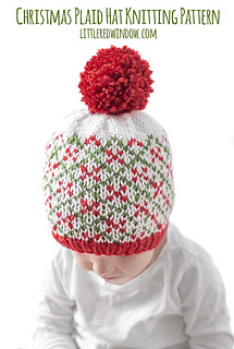 de2222526 Ravelry: Christmas Plaid Baby Hat #1 pattern by Cassandra May