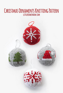 Cute Christmas Ornaments Pattern By Cassandra May