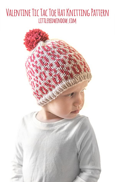 905610a72 Valentine Tic Tac Toe Hat pattern by Cassandra May
