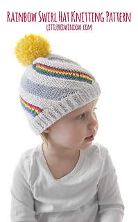 ae8786227d2 Ravelry  Rainbow Swirl Hat pattern by Cassandra May