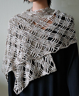 Spider Lattice Stole (DK) pattern by Cathy Campbell