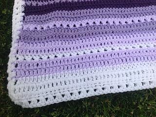 Ravelry Criss Cross Crochet Baby Blanket Pattern By