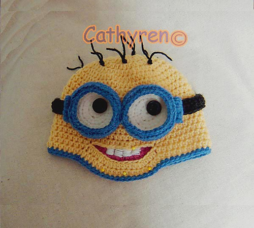 Ravelry Despicable Me Minions Hatbeanie With Removable Goggles