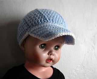 ede224bca Sports Cap, Newsboy hat, Size baby-Preteen pattern by Cathy Ren