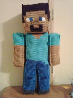 Steve Minecraft pattern by Christjan Bee - Ravelry