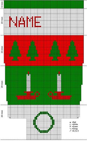 Ravelry: Vintage \'Bernat Stocking Pak\' Style Christmas Stocking with ...