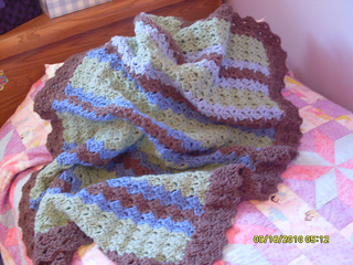 Ravelry Shell Stitch Baby Blanket Pattern By Guylaine