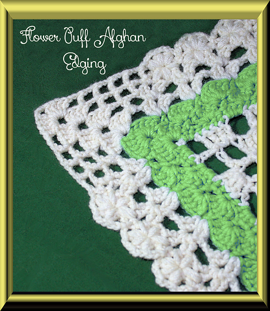 Ravelry Flower Puff Edging And Afghan Border Pattern By Chelsea Craft