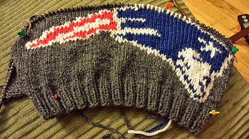Ravelry New England Patriots Logo Knitting Chart Pattern By Chemknits