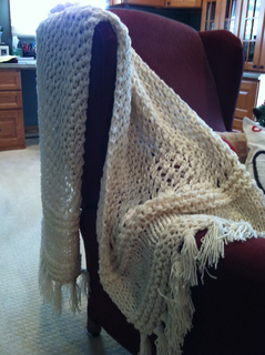 Ravelry 3 Strand Quick Knit Lacy Prayer Shawl Pattern By
