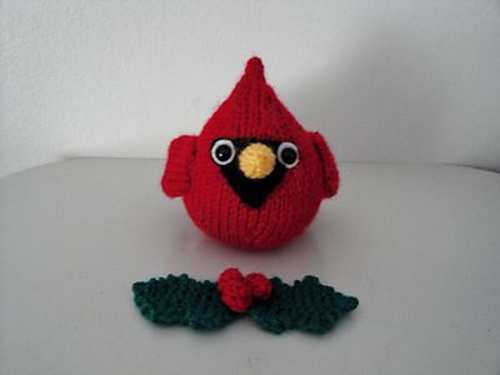 Ravelry Red Cardinal Christmas Ornamnet Pattern By Chiwaluv