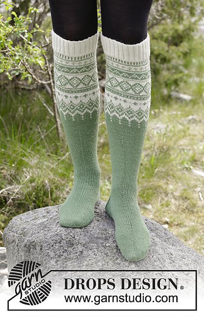 15beba3d3 Ravelry  180-3 Perles du Nord Socks pattern by DROPS design