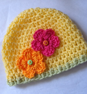 Ravelry May Flowers Again Crochet Baby Hat Pattern By Christine Longe