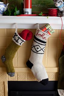 2966270a1 Basic Christmas Stockings pattern by Churchmouse Yarns ... - Ravelry
