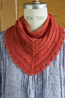 Ravelry: Seashore Kerchief pattern by Churchmouse Yarns and Teas