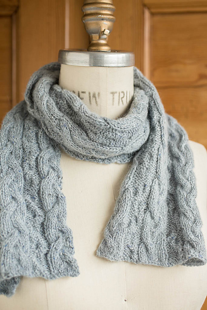 Ravelry: \'Following Seas\' Cabled Scarf pattern by Churchmouse Yarns ...