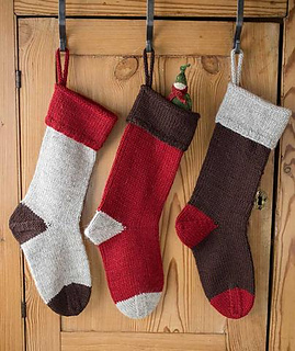 Ravelry: Basic Christmas Stockings pattern by Churchmouse Yarns ...