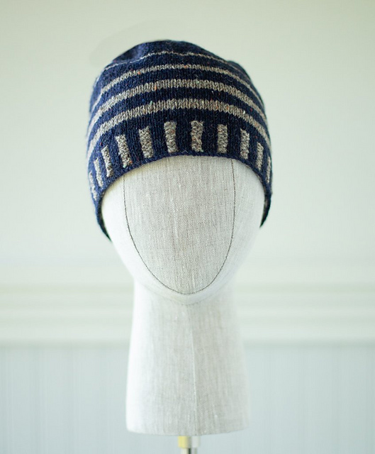 Ravelry: Up & About Striped Beanie pattern by Churchmouse Yarns and Teas