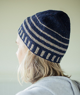 d21f42409be Ravelry  Up   About Striped Beanie pattern by Churchmouse Yarns ...