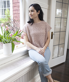 092c507b8 Ravelry  Boxy Lace Tee pattern by Churchmouse Yarns and Teas