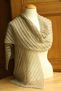 Diagonal Lace Linen Scarf or Wrap pattern by Churchmouse     - Ravelry
