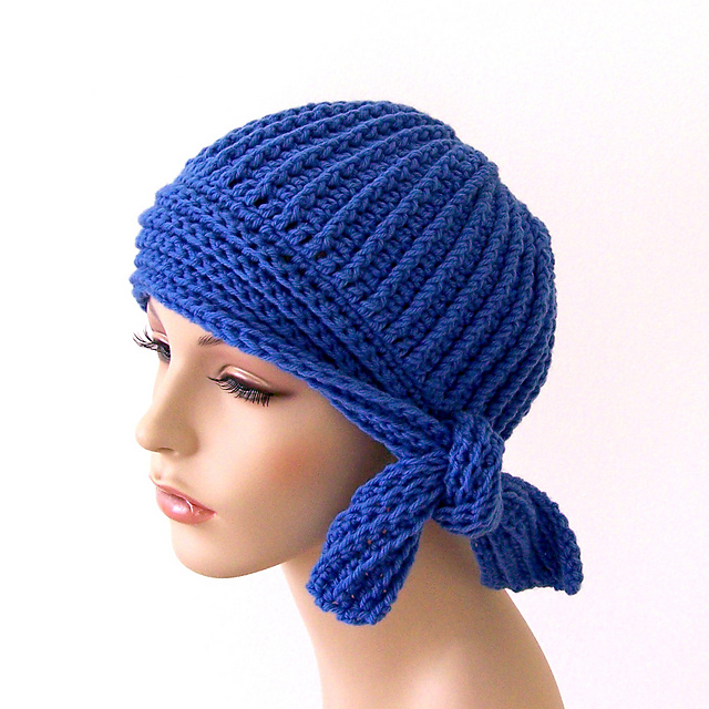 Ravelry Flapper Style Cloche With Side Tie Pattern By Susan Enders