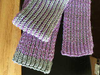Knitting Ribbing With Two Colors : Ravelry brioche rib scarf in one or two colors pattern by rebecca