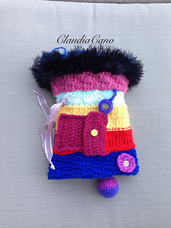 Ravelry: Loom Knitted Twiddle Muff pattern by Claudia Cano